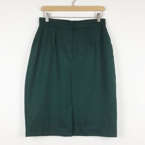 Vintage Skirts - Vintage high waisted wool blend mini skirt green